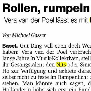 Vera van der Poel - Basler Zeitung